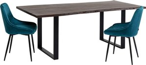 Tisch Harmony Dunkel Schwarz 180x90
