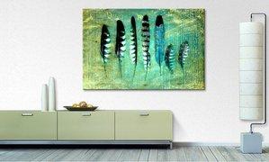 home24 Bild Blue Feathers