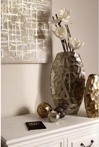 My Flair Vase Trelde I Silber Aluminium 27x46x12 cm (BxHxT) illuminantsType