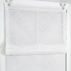 Kutti Raffrollo Jasmin Weiß 80x130 cm (BxH) Webstoff