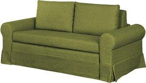 mooved Schlafsofa Latina III Grün Webstoff 165x90x90 cm (BxHxT) mit Schlaffunktion/Bettkasten Landhaus