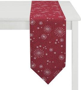 Apelt Tischband Christmas Elegance I Rot/Silber Kunstfaser 24x175 cm (BxT)