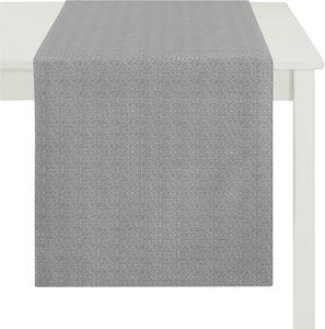 home24 Apelt Tischläufer Torino Grau Kunstfaser Modern 48x135 cm (BxT)