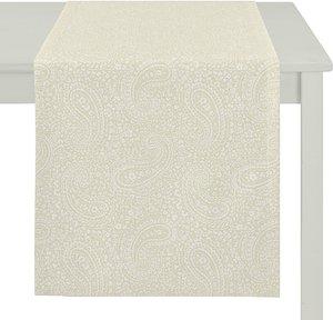 Apelt Tischläufer Uni Paisley Hellbeige Webstoff Modern 48x140 cm (BxT)