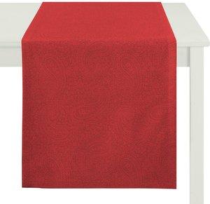 Apelt Tischläufer Uni Paisley Rot Webstoff Modern 48x140 cm (BxT)