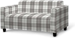 Klobo Sofabezug, weiß-grau , Klobo, Edinburgh  (115-79)