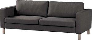 Bezug für Karlstad 3-Sitzer Sofa nicht ausklappbar, kurz, dunkelgrau, Bezug für Karlstad, Etna (705-35)
