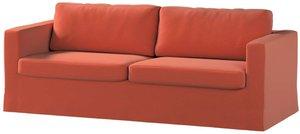 Bezug für Karlstad 3-Sitzer Sofa nicht ausklappbar, lang, Terracotta, Bezug für Sofahusse, Karlstad 3-Sitzer, Ingrid (705-37)