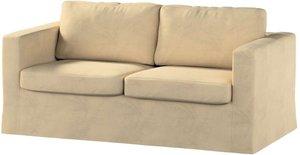 Karlstad 2-Sitzer Sofabezug nicht ausklappbar lang, sandfarben, Sofahusse, Karlstad 2-Sitzer, Living (160-82)