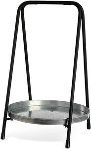 Dekotablett Metall ca.D26xH40cm, schwarz