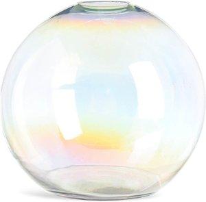 Kugelvase aus Glas, irisierend, D:25cm x H:22cm, klar