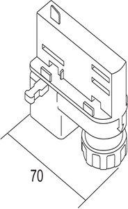 Ivela Universal-Adapter 220-240V, silber
