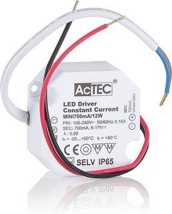 AcTEC Mini LED-Treiber CC 700mA, 12W, IP65