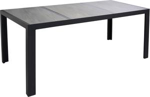 Gartentisch 'Chiara' schwarz/grau 195 x 90 x 74 cm