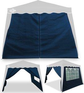 Seitenwand Faltpavillon Capri 2er-Set Blau 3x3m